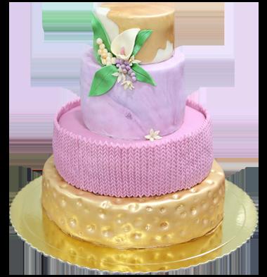 bolo casamento 3d